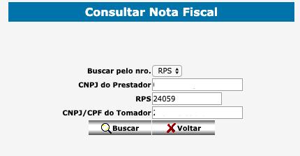 Consultar nota fiscal