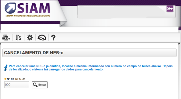 Cancelamento de NFS-e