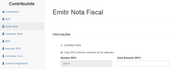Emitir Nota Fiscal