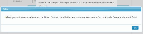Cancelamento NFS-e