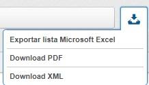 Exportação de documentos